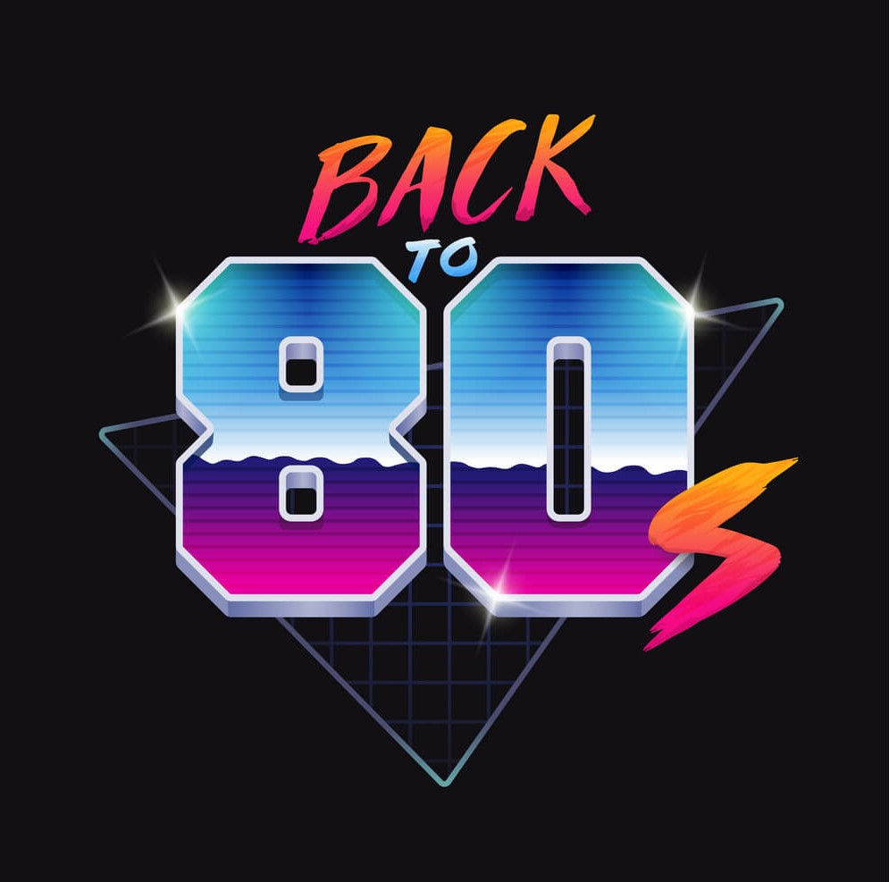 An example of throwback to the 80s logo design