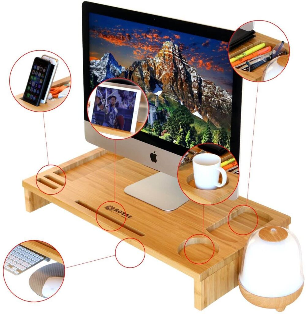 Computer Monitor Stand Riser for graphic Designers